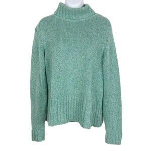 Bass Mint Green Chunky Turtleneck Sweater